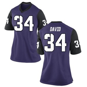 Andrew David Nike TCU Horned Frogs Women's Replica Football College Jersey - Purple