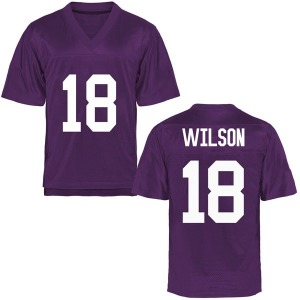 Ben Wilson TCU Horned Frogs Youth Replica Football College Jersey - Purple