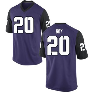 Dalton Dry Nike TCU Horned Frogs Youth Replica Football College Jersey - Purple