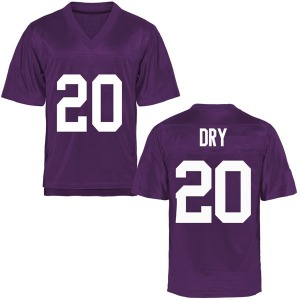 Dalton Dry TCU Horned Frogs Youth Replica Football College Jersey - Purple