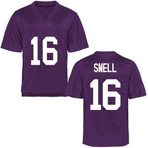 Kenedy Snell TCU Horned Frogs Youth Game Football College Jersey - Purple