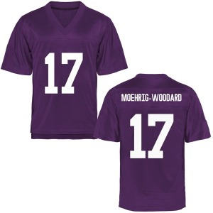 Trevon Moehrig-Woodard TCU Horned Frogs Youth Game Football College Jersey - Purple