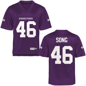Jonathan Song TCU Horned Frogs Youth Game Football Jersey  -  Purple