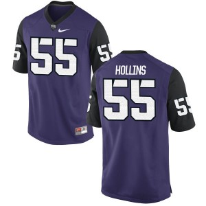 Kellton Hollins Nike TCU Horned Frogs Men's Limited Football Jersey  -  Purple
