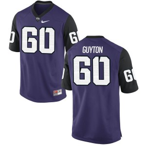 Nate Guyton Nike TCU Horned Frogs Men's Authentic Football Jersey  -  Purple
